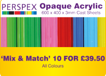 Perspex 'Mix and Match' Any 10 for £39.50