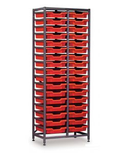 Gratnells 2625F1 Tall Double Frame with 34 Shallow Trays [1543]