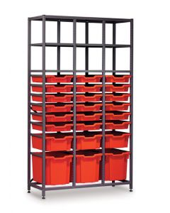 Gratnells 3625B Tall Treble Frame with Trays [1542]