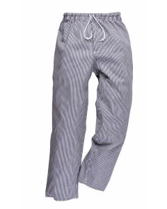 Chef's Checked Trousers Elasticated (Medium) [7008]