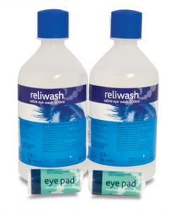Eyewash Station Double Refill Including  2 x 500ml Bottles [1912]