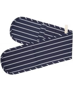 Kitchen Craft Butchers Stripe Cotton Double Oven Gloves [7062]