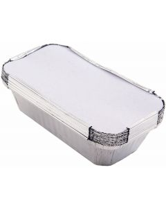 Foil Containers with Lids 12 x 8.5 x 5.5cm Pk of 1000 [97884]