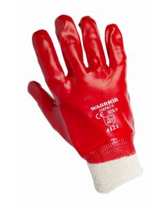 Red PVC Gloves Size 9 [4005]
