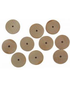 Beech Wooden Discs Pack of 10 30mm Diameter [4314]
