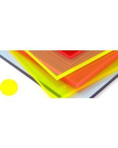 Fluorescent Cast Acrylic Helios Yellow 1000 x 500 x 3mm [44028]