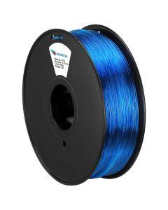 PET 3D Printer Filament 1kg 1.75mm Transparent Blue [45040]