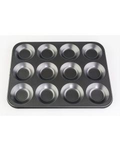 Bun Tin 12 Cup Non Stick 28.5 x 21.5 x 1.5cm Pack of 3 [977020]
