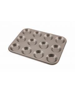 Carbon Steel Non Stick 12 Cup Bun Tray [777827]