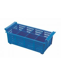 Cutlery Basket 8 Compartment (Blue) 430 x 210 x 155mm [777841]