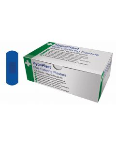 Blue Detectable Plasters Box of 100 2.5 x 7cm [777976]