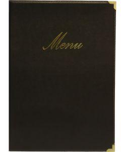 Classic A4 Menu Holder Black 4 Pages [778303]