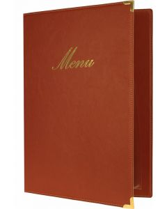 Classic A4 Menu Holder Wine Red 4 Pages [778304]