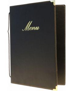 Classic A5 Menu Holder Black 4 Pages [778305]