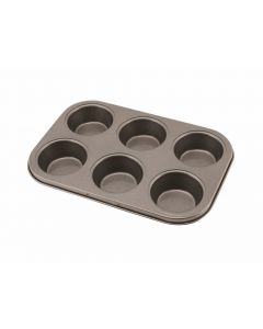 Carbon Steel Non Stick 6 Cup Muffin Tray [778371]