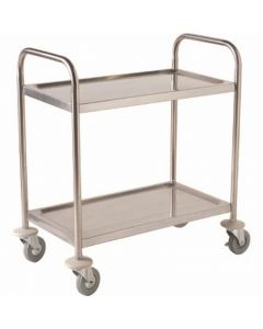 Fully Welded Stainless Steel Trolley - 2 Shelves [778814]