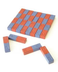 Bar Magnets Small -  Ferrite Pack of 20, 9 x 8 x 40mm [2295]