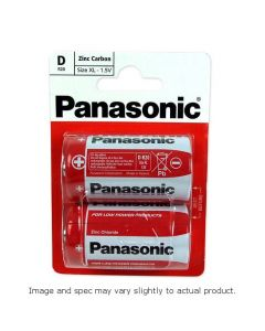 Batteries D Pack of 2 Panasonic [1918]