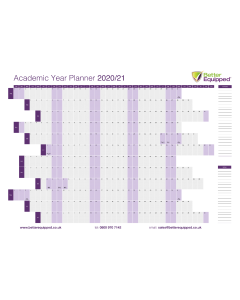Academic Year Planner 2020/21 A1 594 x 841mm [3210]