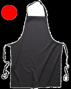 Bib Apron with Pockets Red [7372]