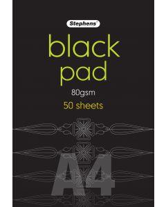 Black Pad A4 80gsm 50 Sheets [44610]