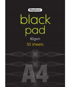 Black Pad A4 80gsm 50 Sheets Pack of 2 [44610]