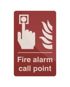 Fire Alarm Call Point Sign 100 x 150mm Self Adhesive [45180]