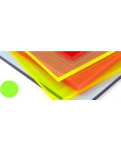 Fluorescent Cast Acrylic Acid Green 600mm x 400mm x 3mm [44127]
