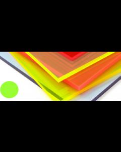 Fluorescent Cast Acrylic Acid Green 1000mm x 500mm x 3mm [44026]