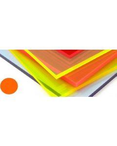 Fluorescent Cast Acrylic Lava Orange 600mm x 400mm x 3mm [44125]