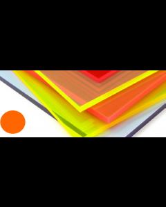 Fluorescent Cast Acrylic Lava Orange 1000 x 500 x 3mm [44024]