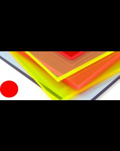 Fluorescent Cast Acrylic Mars Red 1000mm x 500mm x 3mm [44025]