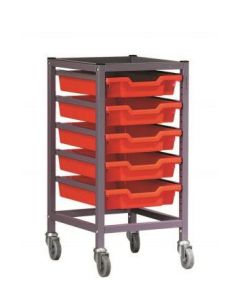 Gratnells 1025S2 Single Trolley Set with 5 Shallow Trays [3289]