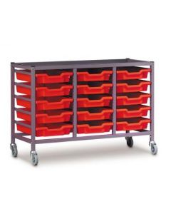 Gratnells 3025P Treble Trolley Set with 15 Shallow Trays [3291]
