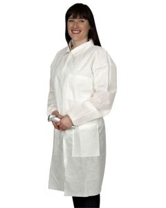 Lab Coat - LightWeight Reusable Large [1855]