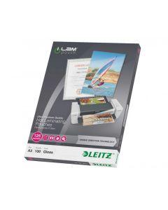 Leitz iLam Pk of 100 Lamination Pouches A4 100 Micron [45261]