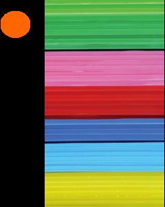 Cast Acrylic Sheet Orange 1000mm x 500mm x 3mm [44012]