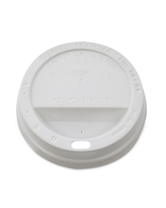 Coffee Cup Lids Pack of 10 White 12oz [780567]