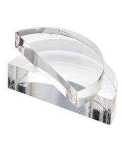Acrylic Block Semi Circular 100 x 12mm Pack of 10 [9138]