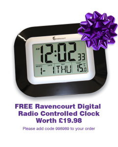 Digital Radio Controlled Clock FREE GIFT [998989]