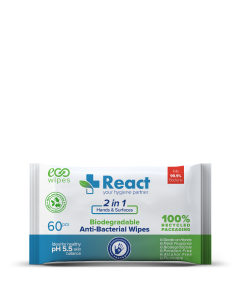 Anti-bacterial 2 in 1 Wipes (Surface & Hand) Pk of 60 [80449]