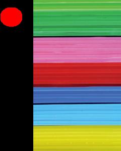 Cast Acrylic Sheet Red 1000mm x 500mm x 3mm Pk of 6 [944004]