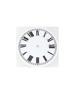 Clock Dial Circular White 150mm [45213]