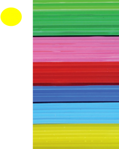 Cast Acrylic Sheet Yellow 1000mm x 500mm x 3mm [44005]